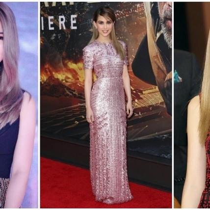 昆凌亮麗現身《摩天大樓》電影宣傳,粉色亮片合身禮服展現玲瓏有緻的好身材!