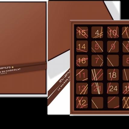 快來盒植村秀的「巧克力潮色驚喜禮盒」,讓你的妝容跟梅森巧克力一樣濃郁好吃!