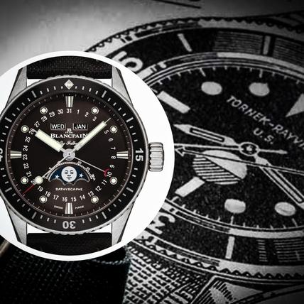深潛的月亮兒 寶珀五十噚深潛器全日曆月相腕錶