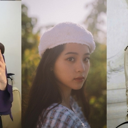 讓你一秒變瓜子臉! IU、娜娜、宋慧喬示範貝雷帽最潮搭法  秋冬想美一波就靠它