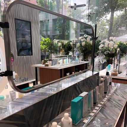 不論是試妝、打卡拍照~全亞洲最大NU SKIN 如新生活台北旗艦館,擁有360度美肌光,走進來就像走進攝影棚