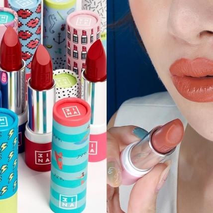 3INA全新FUN肆玩色唇膏,#114仙女小姐姐、#584蜜糖小姐姐必買,還能自己搭配唇膏盒!
