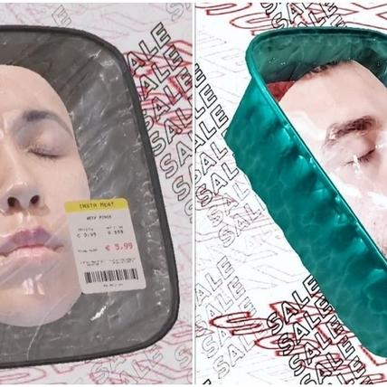 人臉變成肉品了!繼眨眨眼大家都在曬的是___ 3步驟輕鬆製作專屬人臉販售盒