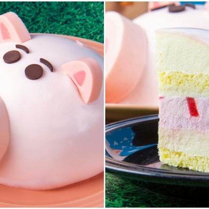 玩具總動員迷必吃!BAC推出限量版「火腿豬蛋糕」萌Q造型,配上草莓內餡太邪惡啦!