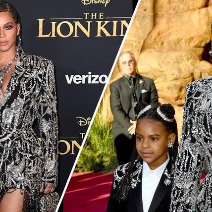 母女一樣霸氣!天后碧昂絲Beyoncé攜女走紅毯 出席《獅子王》洛杉磯全球首映