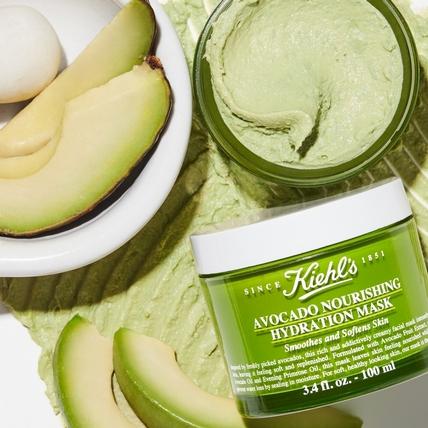金氏世界紀錄認證最營養的酪梨!Kiehl's現榨成最新鮮的「酪梨果泥面膜」幫肌膚立即打氣!
