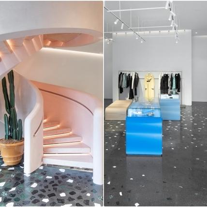 Daniel Lee打造BOTTEGA VENETA首間專賣店在這裡!粉石灰螺旋梯、大理石地讓人完全不像在逛街呀!