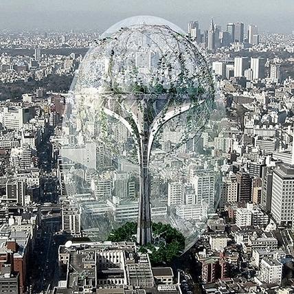 站上摩天樓看地球