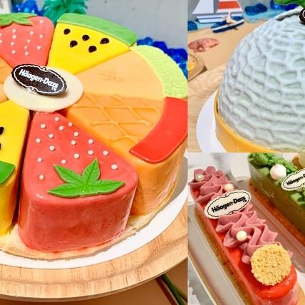 哈密瓜、小玉西瓜造型太可愛!哈根達斯夏季新品必吃,2款冰淇淋蛋糕、繽紛閃電泡芙獨家上市