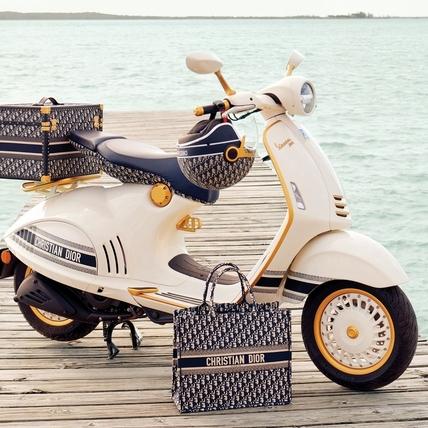 Dior X Vespa超強聯名!機車族最夢幻車款誕生