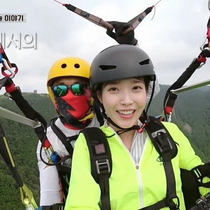 IU同框螢幕CP呂珍九 飛行傘體驗飆三段高音