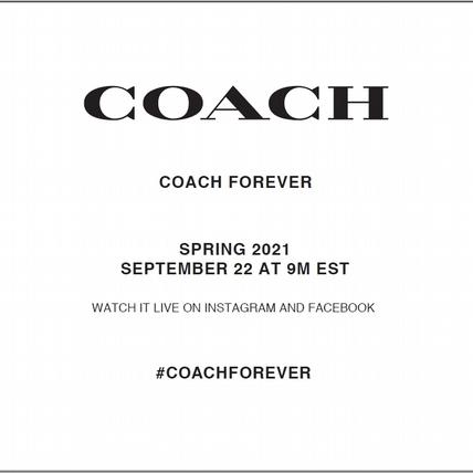 COACH 2021春季系列零時差直播這邊看!