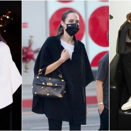還沒見過這麼帥的包!安潔莉娜裘莉、木村光希、JESSICA拎Valentino鉚釘包大展時髦態度