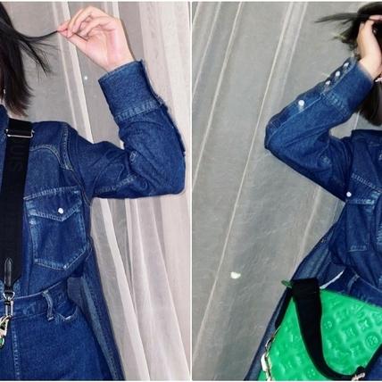 又要心動!楊丞琳搶揹LV全新枕頭Coussin包,多種搭法優雅又個性超時髦