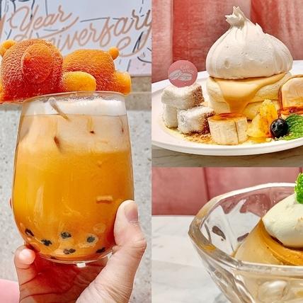 信義區人氣下午茶Café del SOL限定泰奶套餐推薦!「舒芙蕾鬆餅+焦糖嫩布丁」泰味十足,還有「泰式熊熊奶茶」散發療癒萌力