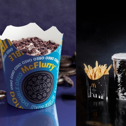 限定版雙倍OREO冰炫風、黑堡系列必吃!麥當勞 X APUJAN「All in Black極黑主題店」登場,巨型月球、星空傳送門、太空觀景窗美到必打卡
