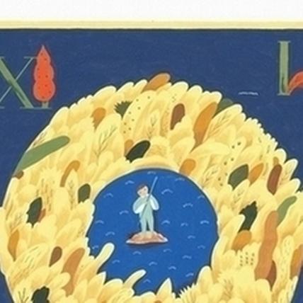 川貝母〈時間公園〉,55x40cm,廣告顏料