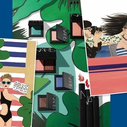 NARS夏彩與紐約插畫家Konstantin Kakanias合作 穿梭海灘、星空、池邊、遊艇,亮眼時髦出擊