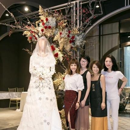呸姐果然神人等級!蔡依林手藝強大翻糖翻出180公分高訂婚紗