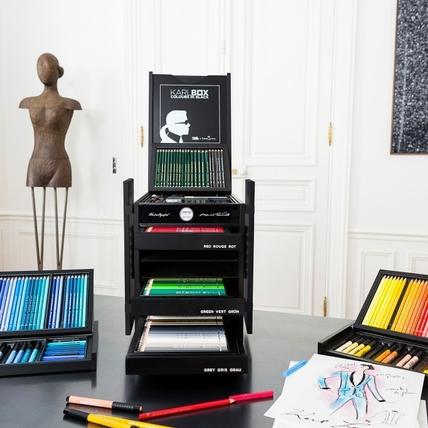 老佛爺的時尚色筆:Karl Lagerfeld X Faber-Castell聯名色筆盒