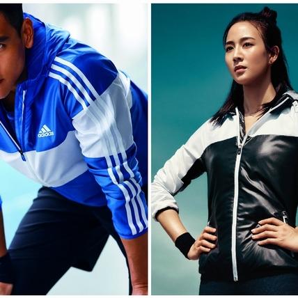 穿上adidas早秋機能外套 跟著彭于晏、張鈞甯汗水淋漓更時尚!