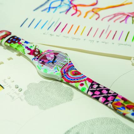 Swatch以藝術之名 推藝術家刺繡限量表