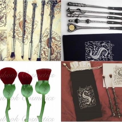 捨得用嗎? 一見就想收藏的哈利波特魔法棒、紅玫瑰花苞刷具組