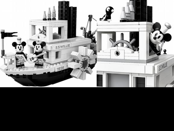 米奇控買起來!樂高推出「汽船威利號」90週年黑白典藏版,還有銀色版米奇、米妮必收
