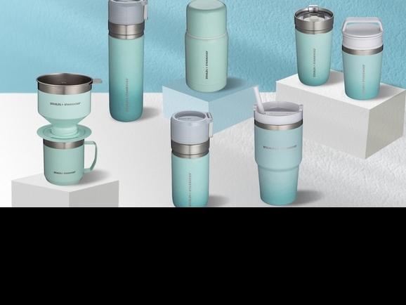 漸層薄荷綠太仙!星巴克 X STANLEY聯名系列8款開賣,首度推出「免濾紙濾杯」咖啡迷必須搶購