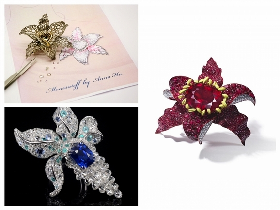 MOUSSAIEFF X ANNA HU 鑽石女王與華裔珠寶藝術家 上億珠寶聯名作閃耀文華東方鑑賞會所!