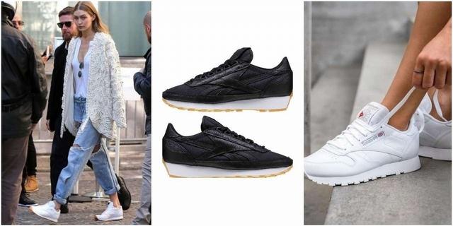 穿球鞋氣場就會輸?超模Gigi Hadid用Reebok Classic系列搭出街拍新高度