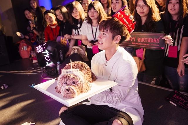 鼓鼓北京宣傳收生日驚喜 愛犬蛋糕催淚哽咽