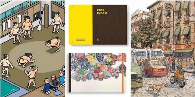 相撲選手像素化!跟著LV旅遊書一起來場城市探險