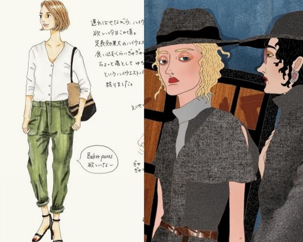 透明系女孩穿搭 V.S  多層次潮流人物  讓人一眼就著迷的日台插畫家