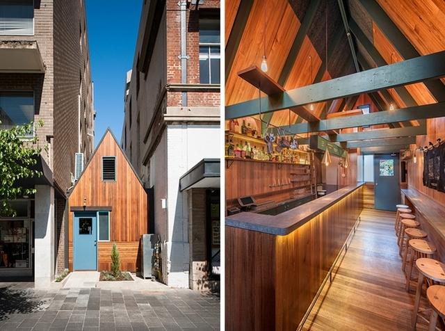 夾在大廈縫隙中的森林小屋─Sans-Arc Studio