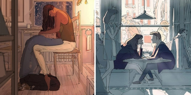 每一張圖都是一段故事!插畫家畫出生活中暖心片刻、 溫馨引共鳴