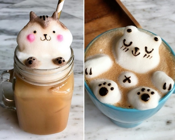這樣的咖啡誰捨得喝!來自新加坡的Daphne手工3D拉花讓你少女心噴發