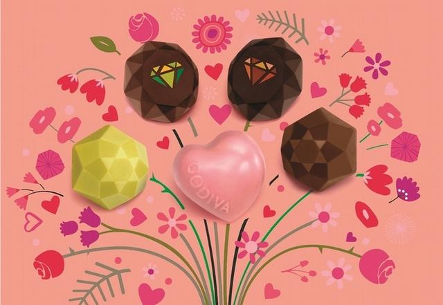 GODIVA 2018情人節巧克力,超美寶石造型浪漫滿分!