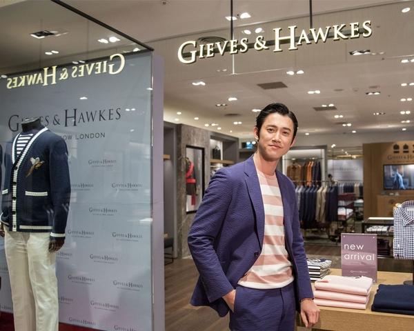 百年品牌Gieves & Hawkes信義A8開幕,吳慷仁化身英倫紳士演繹雅痞風