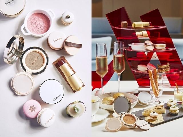 台北萬豪酒店Lobby Lounge x 雪花秀聯名下午茶,各式甜點化身超逼真美妝品