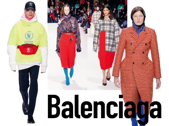 2018秋冬巴黎女裝周Balenciaga  塗鴉山上的線條遊戲