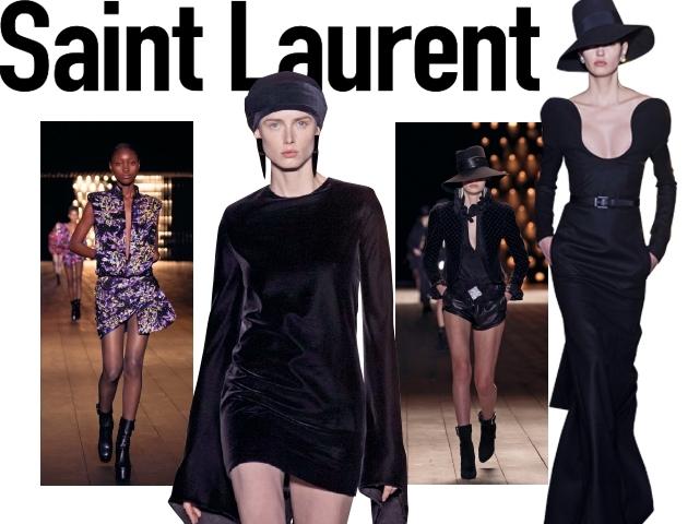 2018秋冬巴黎女裝周Saint Laurent  俄羅斯的波希米亞女郎