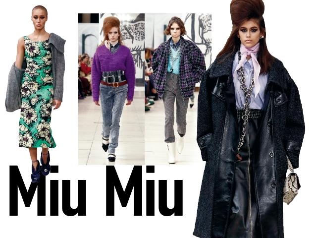 2018秋冬巴黎女裝周Miu Miu    那些年的女孩們