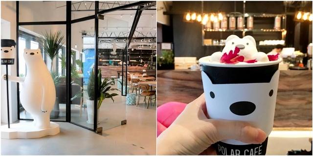 漂浮北極熊棉花糖太療癒!西門町人氣咖啡廳Polar Cafe把雪地、冰山都放進來,還有萌熊出沒快朝聖