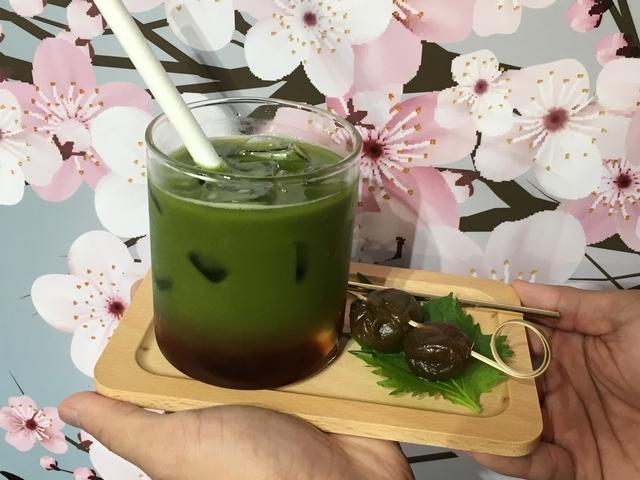 抹茶紫蘇氣泡飲 NT.160