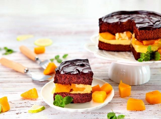 鮮芒果礦石蛋糕
