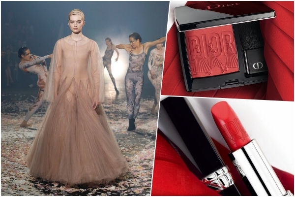 開蓋瞬間美昏,一刷肌膚就像輕飄飄的紅紗裙!DIOR迪奧藍星 芭蕾女伶限量版腮紅#080、唇膏#844  上市必搶!
