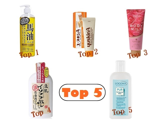TOP5潤澤身體乳