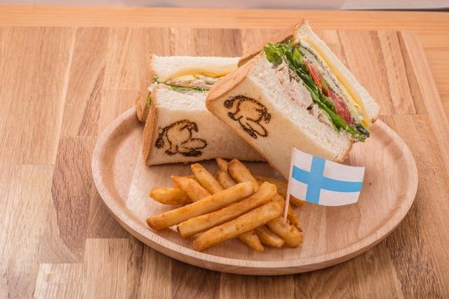 嚕嚕米雙起司總匯三明治