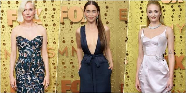 女星如何征服紅毯?第71屆艾美獎龍后Emilia Clarke深V火辣比拚 性感無極限!